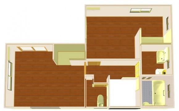 2階風呂間取り画像