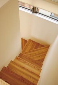 2階リビング 階段にはドアない話画像