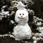 スカイバルコニーで雪画像