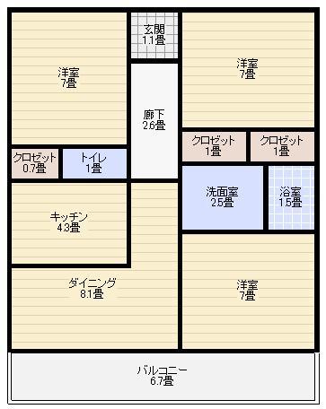 間取りマンション人気画像