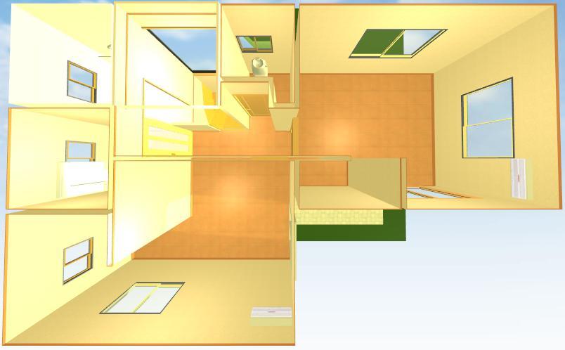 注文住宅L字イメージ2階画像