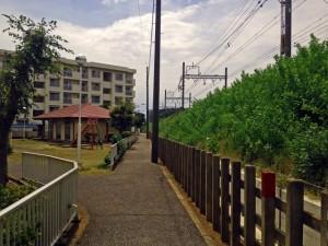 線路沿い 土地画像