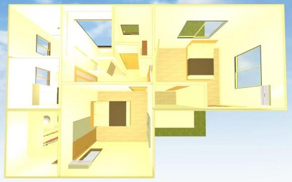 自宅間取り2階画像