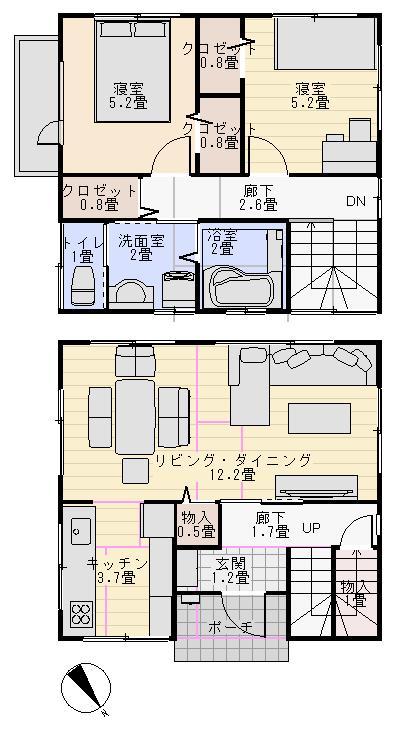 1000万円で家を建てる間取り図