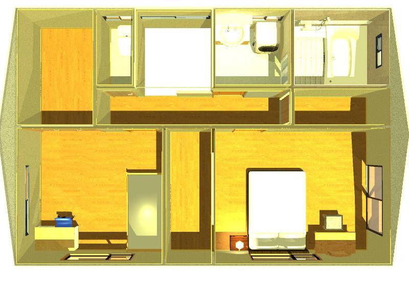 30坪の注文住宅の間取りイメージ画像2階