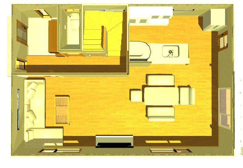 30坪の注文住宅の間取りイメージ画像1階