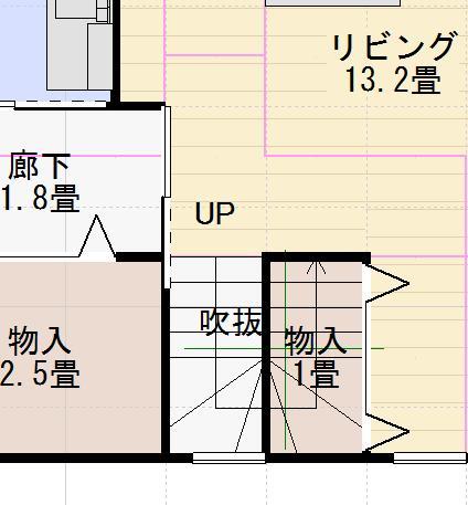 リビング階段リフォーム前画像