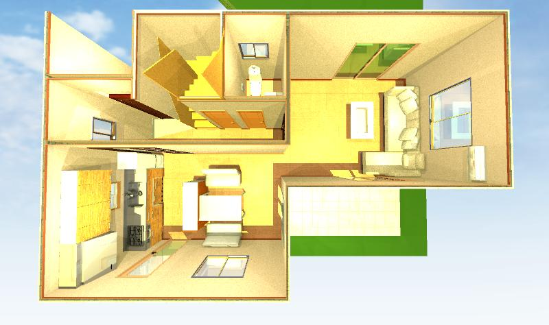 キッチン配置実例画像2