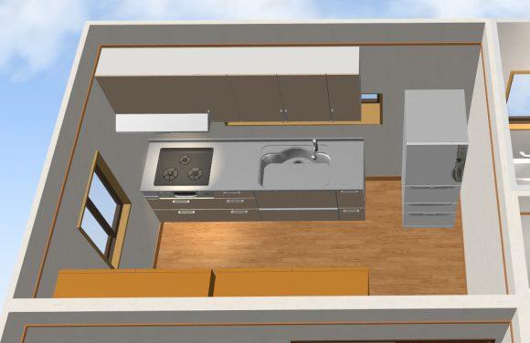 独立キッチン間取り実例画像