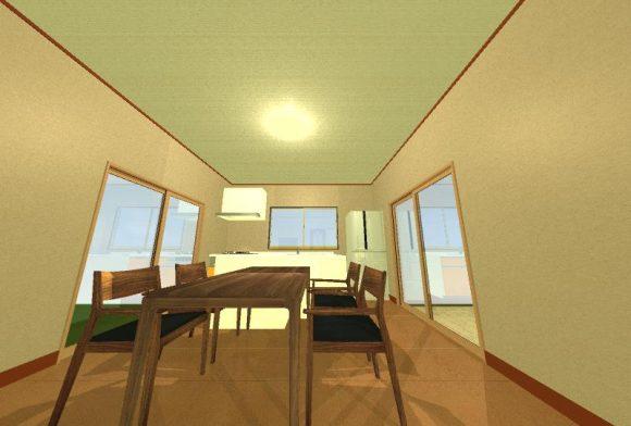 壁付けキッチンのレイアウト画像2